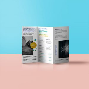 A4 folded to DL leaflet printing london