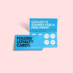 folded appointment cards loyalty card printing