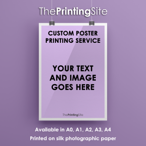 custom personalised poster printing service