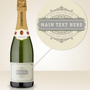 personalised champagne bottles